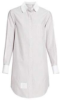 Thom Browne Women's Unconstructed Striped Shirt Dress
