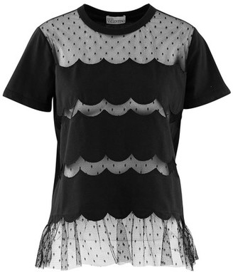 RED Valentino T-shirt with lace detail