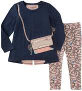 Juicy Couture Graphic Sweater & Printed Legging Set