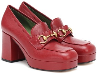 Gucci Horsebit leather loafer pumps
