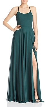 Couture Faviana Chiffon Lace-Up Back Gown