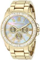 Vince Camuto Women's VC/5158GMGB Swarovski Crystal-Accented Multi-Function Gold-Tone Bracelet Watch