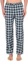 Emporio Armani Logo-waistband cotton-dobby pyjama trousers