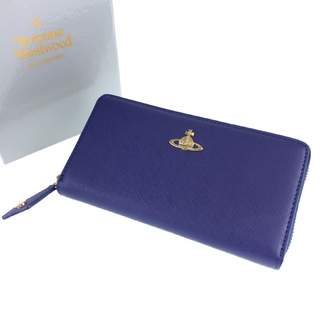 Vivienne Westwood Blue Leather Wallets