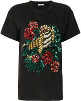 P.A.R.O.S.H. sequin rose patch T-shirt