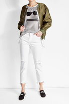 AG Jeans Cropped Jeans with Distressed Detail