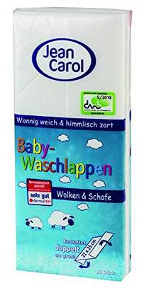 Jean Carol 20004 Baby Washcloth, Clouds and Sheep Motif