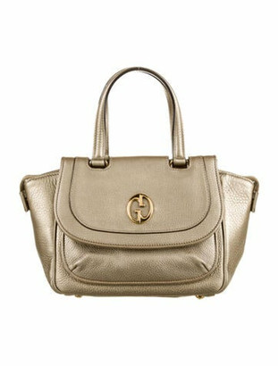 Gucci 1973 Medium Top Handle Bag Metallic