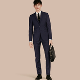Burberry Slim Fit Wool Part-canvas Suit