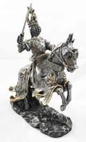 Atlantic Medieval Knight On Horse Statue Royal Elite Calvary Steed