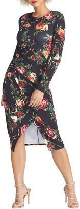 Rachel Roy Bret Floral Print Long Sleeve Dress