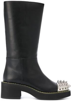 Miu Miu Spike Stud Detail Boots