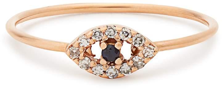 Ileana Makri Diamond, sapphire & rose-gold ring