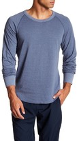 Save Khaki Stripe Pointelle Raglan Crew Neck Tee