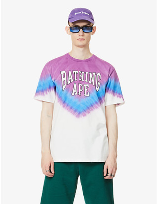 A Bathing Ape Graphic-print tie-dye cotton-jersey T-shirt