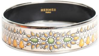Hermes Palladium Plated Wide Enamel Bangle