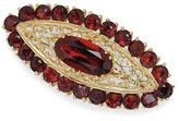 Tatitoto Gioie Women's Brooch in 18k Gold with Garnet, 12 Grams