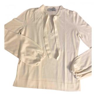 Saint Laurent White Cashmere Knitwear