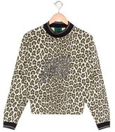 Junior Gaultier Girls' Leopard Print Long Sleeve Top