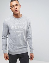 Jack and Jones Vintage Sweatshirt With Graphic