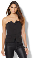 New York & Co. Button-Front Strapless Top