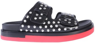 Alexander McQueen Studded Double Strap Sandals