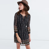Madewell Lace-Up Dress in Burnished Floral