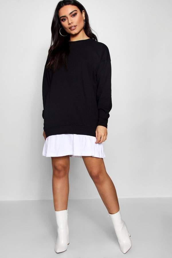 boohoo 2 in1 Sweater Dress