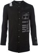 Tom Rebl logo print shirt - men - Linen/Flax/Spandex/Elastane/Viscose/Wool - 48