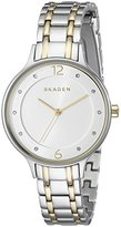 Skagen Women's SKW2321 Anita Two Tone Silver and Gold Link Watch
