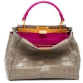 Fendi Peekaboo Mini Bicolor Crocodile Satchel