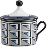 Richard Ginori 1735 Aurea Geometric Coffee Cup and Lid, Blue