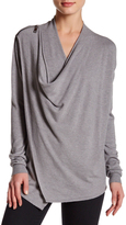 Sisters Gray Drape-Front Top