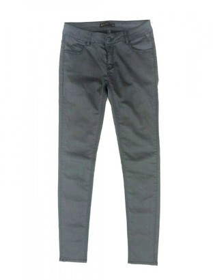 Supertrash Grey Cotton - elasthane Jeans for Women