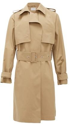 BEIGE Bianca Saunders - Belted Cotton-blend Trench Coat - Mens