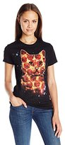 Goodie Two Sleeves Juniors Pizza Cat Graphic Tee