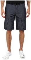 DKNY Chambray Cargo Shorts in Indigo