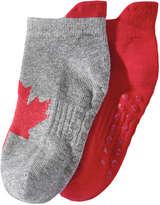 Joe Fresh Toddler Girls' 2-Pack Sport Socks, Grey (Size 3-5)