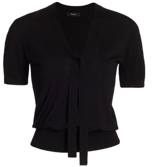 Theory Elodie Tie-Neck Sweater