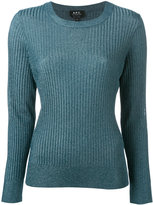 A.P.C. fitted crewneck sweater - women - Polyester/viscose - XL