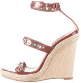 Aquazzura Embellished Wooden Wedges