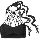 Mikoh Kahala Halterneck Bikini Top - Black