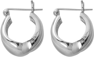 S.SIL Silver-Tone Twisted Bold Earrings