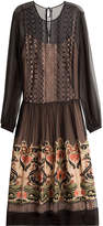 Alberta Ferretti Embroidered Silk Dress