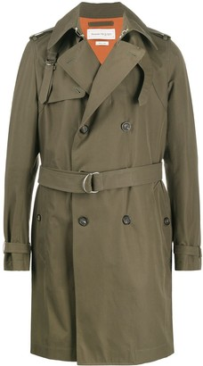 Alexander McQueen Double-Breasted Trench Coat