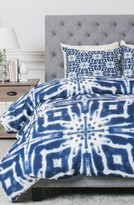 DENY Designs Watercolor Shibori Duvet Cover & Sham Set