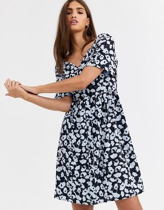 Vero Moda floral square neck dress