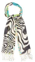 Roberto Cavalli Abstract Print Scarf