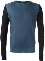 Emporio Armani contrast jumper - men - Cotton/Silk - S