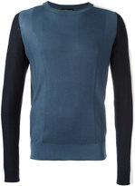 Emporio Armani contrast jumper - men - Silk/Cotton - S